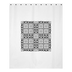 Black And White Shower Curtain 60  X 72  (medium)  by FunkyPatterns