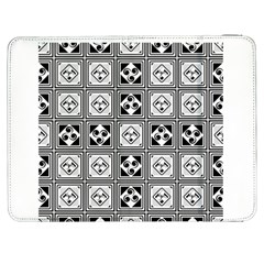Black And White Samsung Galaxy Tab 7  P1000 Flip Case by FunkyPatterns