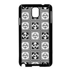 Black And White Samsung Galaxy Note 3 Neo Hardshell Case (Black) by FunkyPatterns