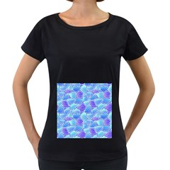 Blue And Purple Glowing Women s Loose-Fit T-Shirt (Black) by FunkyPatterns