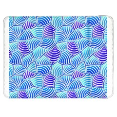 Blue And Purple Glowing Samsung Galaxy Tab 7  P1000 Flip Case by FunkyPatterns