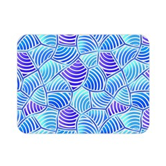 Blue And Purple Glowing Double Sided Flano Blanket (mini)  by FunkyPatterns