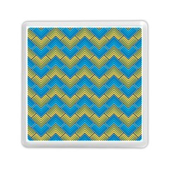 Blue And Yellow Memory Card Reader (square)  by FunkyPatterns