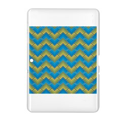 Blue And Yellow Samsung Galaxy Tab 2 (10 1 ) P5100 Hardshell Case  by FunkyPatterns