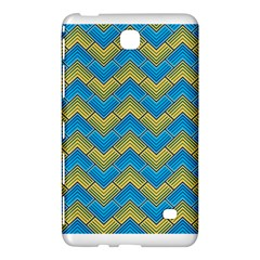 Blue And Yellow Samsung Galaxy Tab 4 (7 ) Hardshell Case  by FunkyPatterns