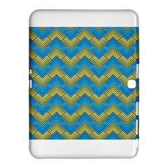 Blue And Yellow Samsung Galaxy Tab 4 (10 1 ) Hardshell Case  by FunkyPatterns