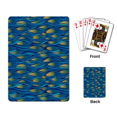Blue Waves Playing Card by FunkyPatterns