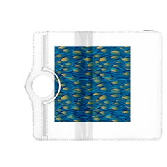 Blue Waves Kindle Fire Hdx 8 9  Flip 360 Case by FunkyPatterns