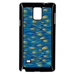 Blue Waves Samsung Galaxy Note 4 Case (black) by FunkyPatterns