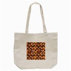 Brown Tiles Tote Bag (Cream) by FunkyPatterns