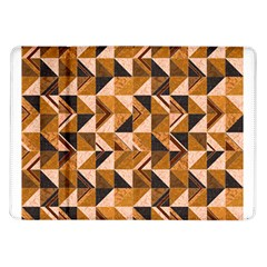 Brown Tiles Samsung Galaxy Tab 10 1  P7500 Flip Case by FunkyPatterns