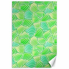 Green Glowing Canvas 24  X 36  by FunkyPatterns