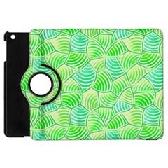 Green Glowing Apple iPad Mini Flip 360 Case by FunkyPatterns