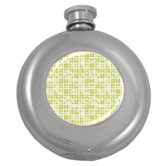 Pastel Green Round Hip Flask (5 Oz) by FunkyPatterns