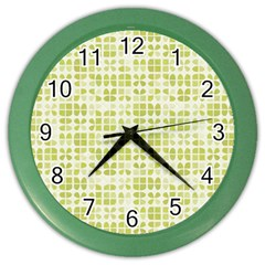 Pastel Green Color Wall Clocks by FunkyPatterns