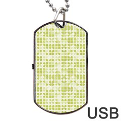 Pastel Green Dog Tag Usb Flash (two Sides)  by FunkyPatterns