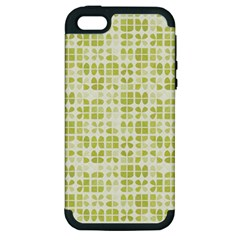 Pastel Green Apple Iphone 5 Hardshell Case (pc+silicone) by FunkyPatterns