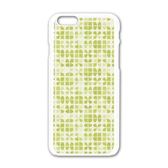 Pastel Green Apple Iphone 6/6s White Enamel Case by FunkyPatterns