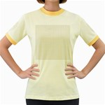 Pastel Pattern Women s Fitted Ringer T-Shirts