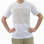 Pastel Pattern Men s T-Shirt (White) (Two Sided)