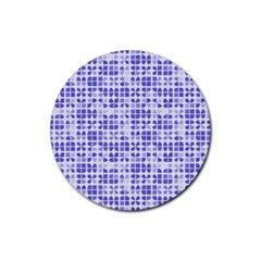 Pastel Purple Rubber Round Coaster (4 pack)  by FunkyPatterns