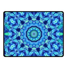 Blue Sea Jewel Mandala Fleece Blanket (small) by Zandiepants
