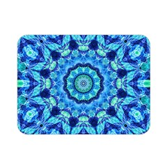 Blue Sea Jewel Mandala Double Sided Flano Blanket (mini) by Zandiepants
