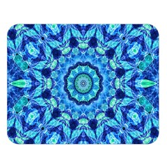 Blue Sea Jewel Mandala Double Sided Flano Blanket (large) by Zandiepants