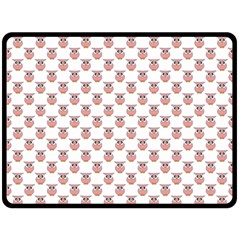 Small Pink Owls Double Sided Fleece Blanket (large)  by CircusValleyMall