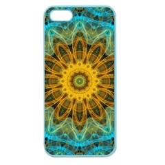 Blue Yellow Ocean Star Flower Mandala Apple Seamless Iphone 5 Case (color) by Zandiepants
