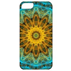 Blue Yellow Ocean Star Flower Mandala Apple Iphone 5 Classic Hardshell Case by Zandiepants