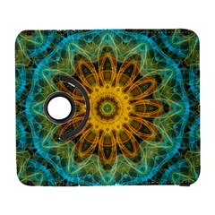 Blue Yellow Ocean Star Flower Mandala Samsung Galaxy S  Iii Flip 360 Case by Zandiepants