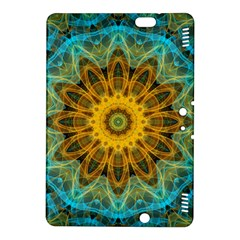 Blue Yellow Ocean Star Flower Mandala Kindle Fire Hdx 8 9  Hardshell Case by Zandiepants