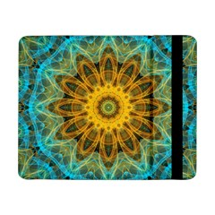 Blue Yellow Ocean Star Flower Mandala Samsung Galaxy Tab Pro 8 4  Flip Case by Zandiepants
