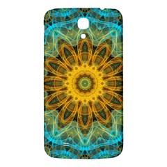 Blue Yellow Ocean Star Flower Mandala Samsung Galaxy Mega I9200 Hardshell Back Case by Zandiepants
