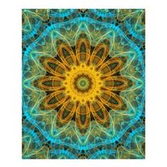 Blue Yellow Ocean Star Flower Mandala Shower Curtain 60  X 72  (medium) by Zandiepants