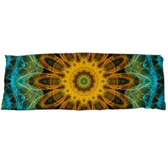 Blue yellow Ocean Star flower mandala Body Pillow Case (Dakimakura) by Zandiepants
