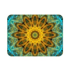Blue Yellow Ocean Star Flower Mandala Double Sided Flano Blanket (mini) by Zandiepants