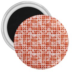 Pastel Red 3  Magnets by FunkyPatterns