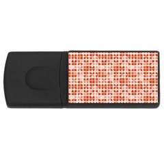Pastel Red USB Flash Drive Rectangular (2 GB)  by FunkyPatterns