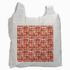 Pastel Red Recycle Bag (one Side) by FunkyPatterns