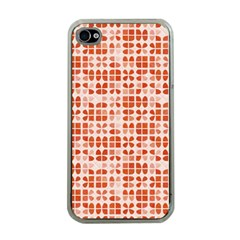 Pastel Red Apple Iphone 4 Case (clear) by FunkyPatterns