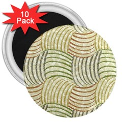 Pastel Sketch 3  Magnets (10 Pack)  by FunkyPatterns