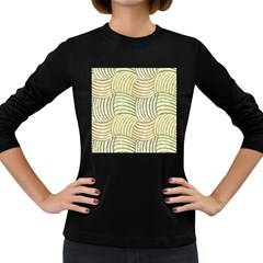 Pastel Sketch Women s Long Sleeve Dark T Shirts by FunkyPatterns