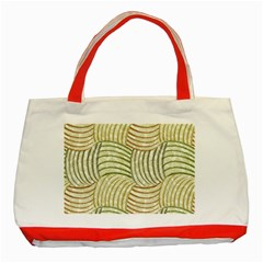 Pastel Sketch Classic Tote Bag (Red) by FunkyPatterns