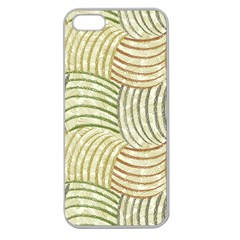 Pastel Sketch Apple Seamless Iphone 5 Case (clear) by FunkyPatterns