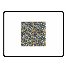 Pastel Tiles Double Sided Fleece Blanket (small)  by FunkyPatterns