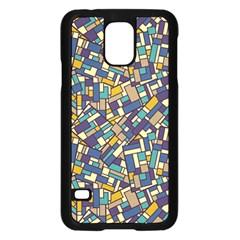 Pastel Tiles Samsung Galaxy S5 Case (Black) by FunkyPatterns