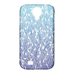 Blue Ombre Feather Pattern, White, Samsung Galaxy S4 Classic Hardshell Case (pc+silicone) by Zandiepants