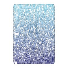Blue Ombre Feather Pattern, White, Samsung Galaxy Tab Pro 10 1 Hardshell Case by Zandiepants